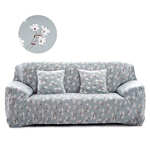 Cornasee copridivano elasticizzato 3 posti,fodera per divano con corda fissa, stampa floreale