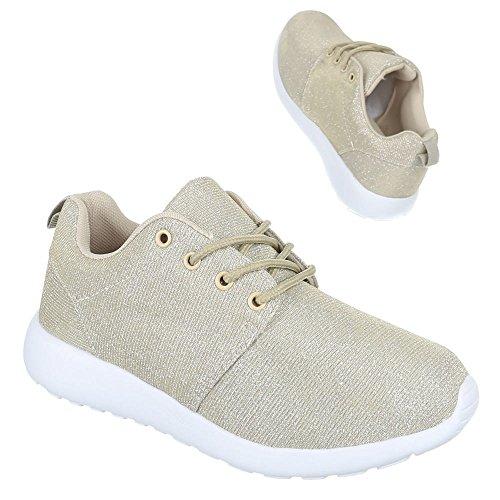 Damen Schuhe Trendige Trendige Trendige Sportschuhe Freizeitschuhe Beige Gold  [B01BGYHIZS] bb0711