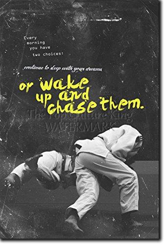 Judo motivacional, póster o afiche. 09 'Wake up and chase them!' Lámina original para regalo con cita de motivación impresa en papel de fotografía 30x20 cm Judoka Japan Japanese Kata