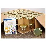 MamboCat 40er Set Sturzgläser 230 ml mit goldenem Deckel To 82 inkl. Diamant Gelierzauber Rezeptheft Marmeladengläser Einmachgläser Einweckgläser