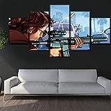 Mddrr Moderne Home Wall Art Decor Leinwandbild 5 Stücke Angriff Auf Titan Levi Ackerman Malerei Für Wohnzimmer Anime Poster Poster