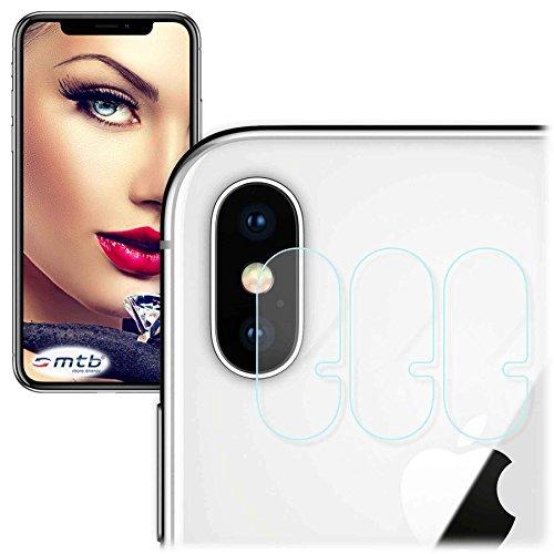 mtb more energy® 3x Kamera-Glasfolie für Apple iPhone X / iPhone 10 (5.8'') - Schutz-Folie Glas Rückseiten-Cam Linse Back (Iphone-kamera-objektiv-protector)