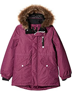 NAME IT Mädchen Jacke Nitmedenim Jacket W. Fur Purple Nmt G Fo
