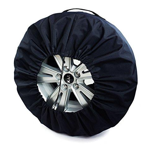 Premium Housses de Roue de Secours Noire pour Auto 17-22\