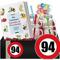 Zahl - 94 | Smoothie Geschenk + Becher | 94 iger Geburtstag Geschenk