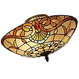 ☞ Lampe de salon Tiffany, éclairage de verre, lampes de chambre rustique, lampe de salle à manger, lampe de couloir, lampe de café, lampes d'ambiance classique, douille E27. Kronleuchter ☜