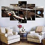 Mddrr 5 StückeSternzerstörer X-Wing Starfighter Moderne Home Decor Leinwandbild Kunst Hd Drucken Malerei Auf Leinwand Kunstwerke Poster