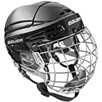 Bauer Helm 5100 Combo (incl. Gitter), Farbe:Schwarz, Größe:L = 58cm - 63cm