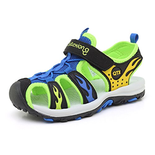 Unisexe Enfants D'été Sandales Coloré Plates Respirant Ultraléger Outdoor Randonnée Plage Chaussures De Sport Pour Fille Garcon Bleu