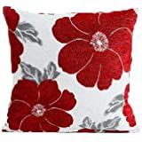 """Red Poppy Cushion Cover 18"""" x 18"""""""