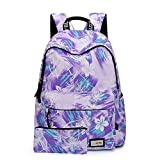 HE-bag Schulrucksack für Mädchen, Nette beiläufige Segeltuch-Blumenlaptop-Buch-Beutel-Reise, die Tagesrucksack, College-Spielraum-Rucksack wandert