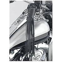 Paire de couvre poignées en cuir moto custom