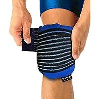 Gelpacksdirect - Bolsa de gel para aplicar frío y calor - Con banda de compresión - Para lesiones en la rodilla