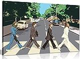 The Beatles Abbey Road 8Bit Leinwand Kunstdruck Bild, A1 76x51 cm (30x20in)