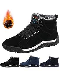 TUCSSON Zapatos Invierno Hombres Anti-Deslizante Botas de Nieve Impermeable Botas de algodón Calentar Botines