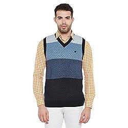 Duke Men Casual Sweater 1968078031 Navy Coloured Small