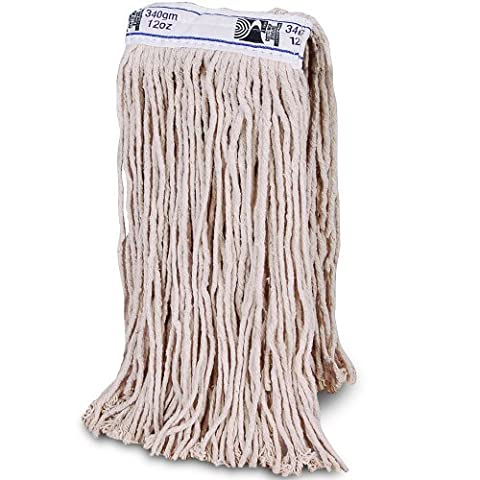 12oz / 340gm Kentucky Mop Head. Thick Absorbent Yarn For
