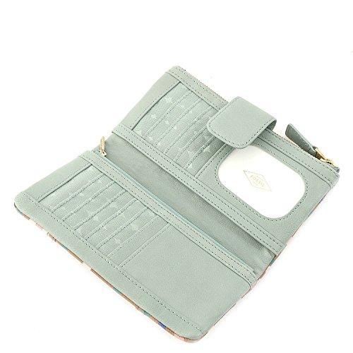 Fossil Emory borsa - Pochette portafoglio pelle 20 cm seaglass seaglass