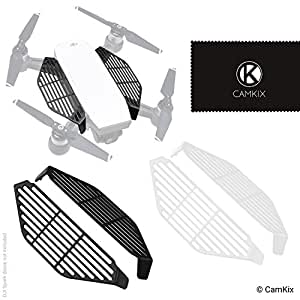 CamKix Finger Guards compatible with DJI Spark - 2 Pair Set (2x Black and  2x White) - Hand Catch Safety Shields - Protects Hands/Fingers from