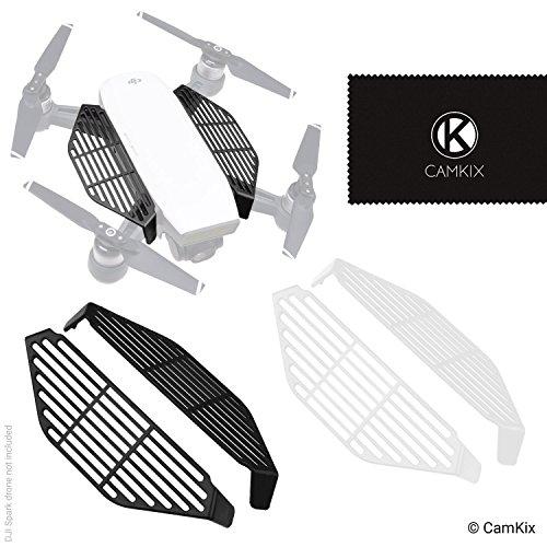 CamKix Protège-doigts Compatible avec DJI Spark – Ensemble de 2 paires (2x noir et 2x blanc) - Protecteurs de sécurité de main - Protège les mains / les doigts des impacts de l'hélice