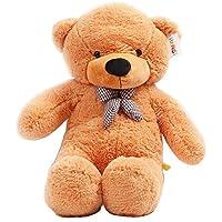 YunNasi Teddy oso gigante de peluche animal suave de felpa 100cm marrón claro