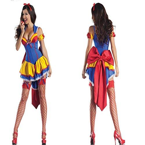 Gorgeous Schnee-Königin -Märchen -Rollenspiel -Uniformen Halloween-Kostüm Cosplay Königin Kleid (Leistung Schnee)
