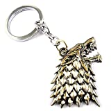 #8: eshoppee game of thrones lion face keyring key chain for cars and bikes