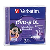 #6: Verbatim 2.6 GB 2.4X Mini Double Layer Recordable Disc DVD+R DL, 3-Disc Jewel Case 95313