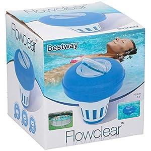 Bestway 58071 Dosatore di cloro galleggiante per piscine fuoriterra Bestway