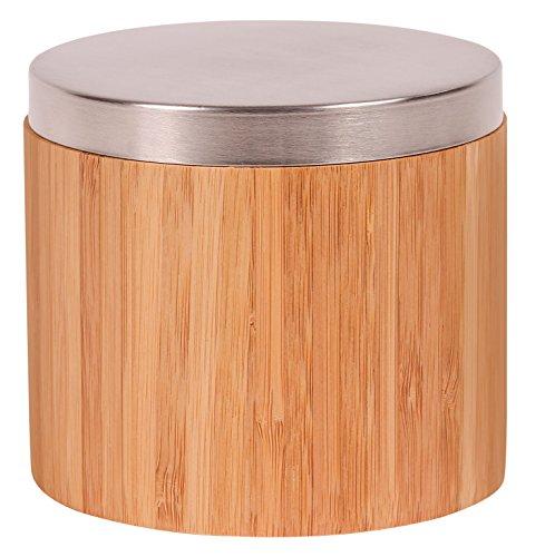 Croll & Denecke Boîte décorative en bambou pour disques de coton