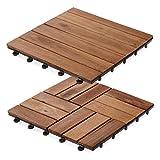 Dalles terrasse en bois casa pura® Arden | SET de 11 ou 33 pièces disponibles - bois d'acacia | stabilisées UV | 33 pièces (3m²)