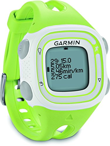 Garmin Forerunner 10 GPS Running Watch - Small, Green/White