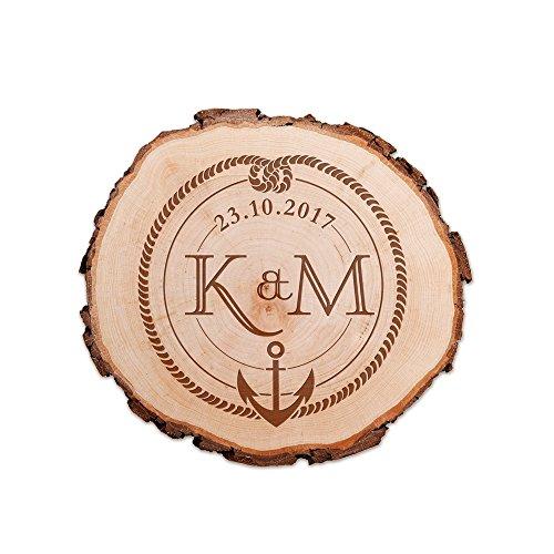 Casa Vivente Baumscheibe - Kompass + Knoten - Personalisiert - Parent 10