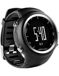 Sportuhr Boblov North Edge intelligente Multifunktions GPS Laufen Uhren Schwarze Uhren für Triathlon Fitness Training im Freien Wandern