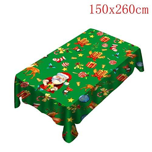 Irish Kostüm Frauen's - Weihnachtsmotiv Tischdecke Leicht Abwischbar,Weihnachtsdeko Stuhlhussen Stuhlabdeckung,Größe wählbar, Abwaschbar Tischdecken für Weihnachten Personalisiert Tischwäsche