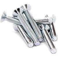 M6(6mm x 45mm) de destornillador hexagonal cabeza tornillo avellanado tornillos–acero (Pack de 20)
