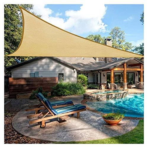 Parasole vela triangolo parasole vela 3x3m 4x5m pergola canopy impermeabile 95% uv ombra esterna protezione solare per patio pergola backyard facility attività tenda da sole ( size : 5x5x5m )