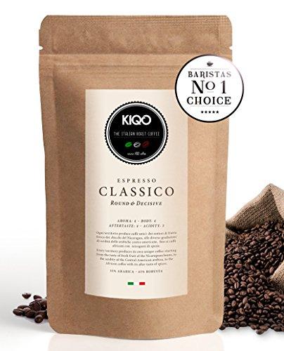 KIQO Classico Espresso ganze Bohnen aus Italien | in schonenden Kleinstchargen geröstet | säurearm...