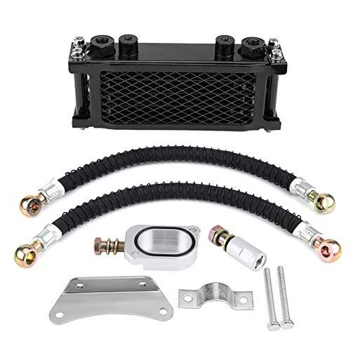 65ML Kit Refroidisseur d'Huile, Keenso Kit de Système de Radiateur de Refroidissement Refroidisseur Huile Moteur de Moto En Aluminium