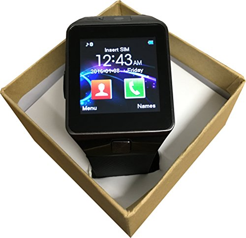 voyto® 2016 nero DZ09 Bluetooth fotocamera smart watch/polso per Android/iOS Smart phones-boxed Set Regalo, Regalo perfetto per Natale --