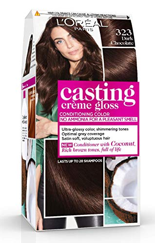 L'Oréal Paris Casting Crème Gloss Coloration Ton Sur Ton Sans Ammoniaque 3.23 Chocolat Noir Lot de 2