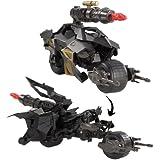 Mattel W7219 - Batman's Superattacke Batpod, Motorrad mit Figur