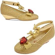 Original auténtica Disney Store - Princesa Bella de La Bella y la Bestia - zapatos de lujo Belle para los niños - tamaño; EU 24 - 26 ... UK 7-8