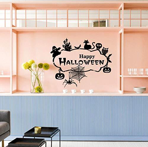 WFYY Happy Halloween Home Room Decor wandtattoo Aufkleber Removable New wandtattoo Original Design 71X58 cm