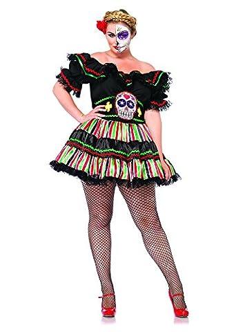 Leg Avenue 85293X - Kostüm für Erwachsene, Größe 46, schwarz/multifarbig (2016 Plus Size Kostüme)