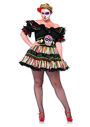 Leg Avenue 85293X - Kostüm für Erwachsene, Größe 46, schwarz/multifarbig