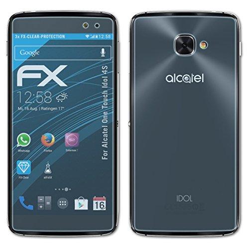 atFolix Schutzfolie kompatibel mit Alcatel One Touch Idol 4S Folie, ultraklare FX Bildschirmschutzfolie (3er Set)