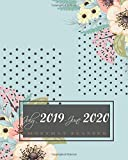 "July 2019-June 2020 Monthly Planner: Floral and Dots Cover, 12 Months July-June Calendar, Daily Weekly Monthly Planner 8"" x 10"""