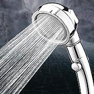 LAYOPO Handheld 360 Degree Rotating Shower Head, 3 Modes Adjustable High Pressure Water Saving Filter Showerhead (Gold & Silv