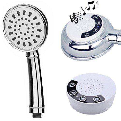 Wasserdichte Musik Handbrause ABS Chrome Montieren Bluetooth Lautsprecher Duschkopf Anruf Anruf